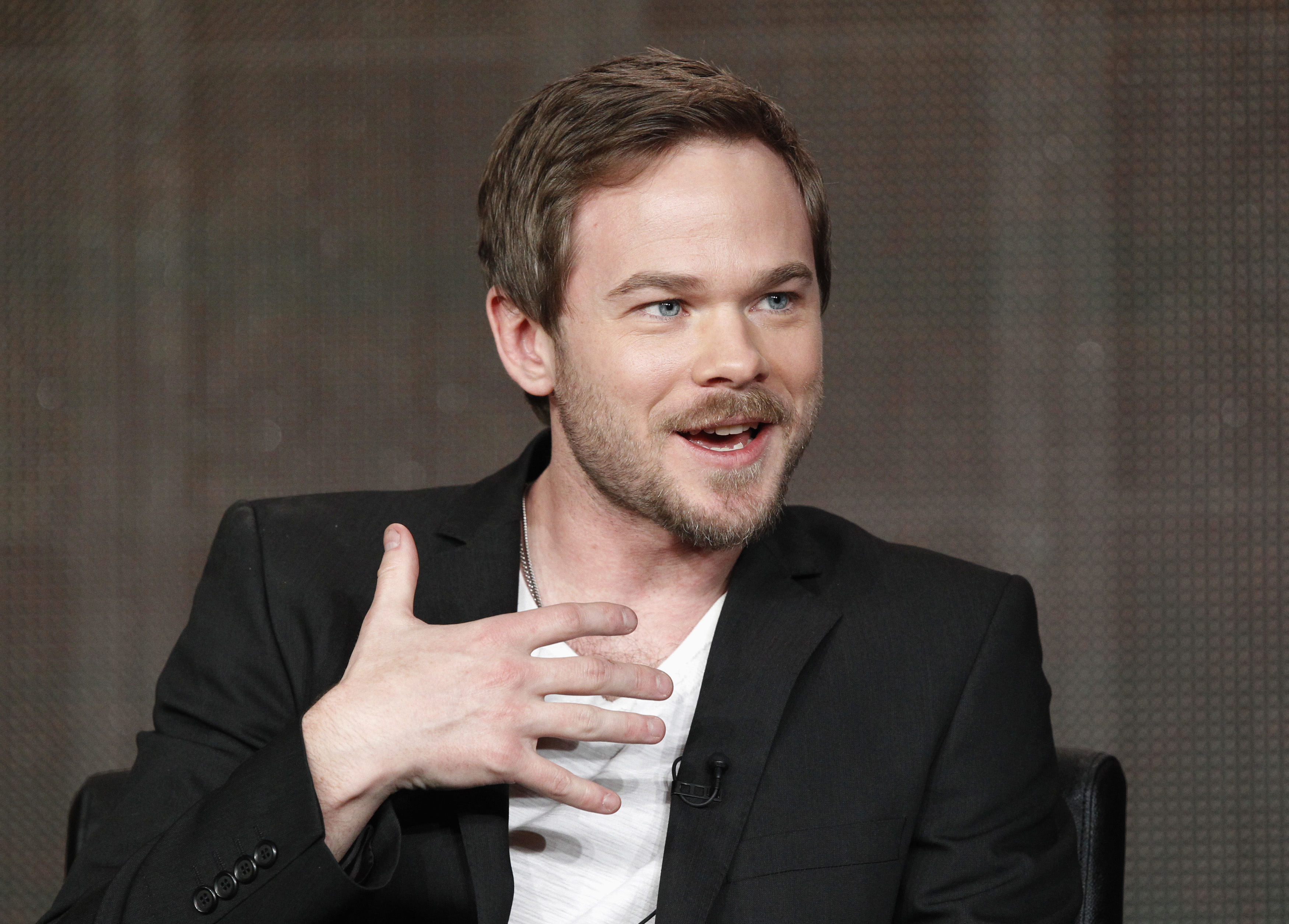 "Ashmore speaks at a Fox panel for ""The Following"" at 2013 Winter Press Tour for the Television Critics Association in Pasadena"
